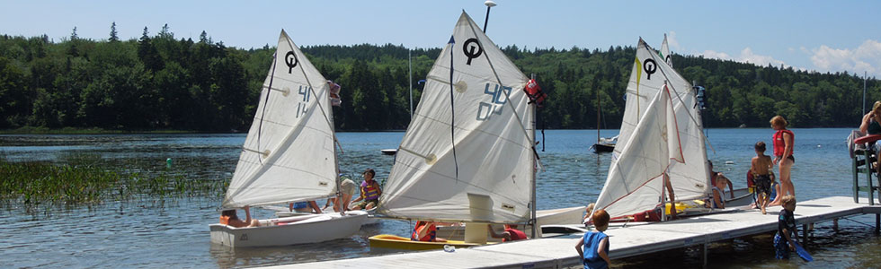 Sailboats at Nichols Day Camps