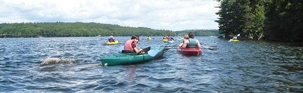 Kayaking at Adventure Camp at Nichols Day Camps