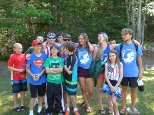 Bridge program participants and campers